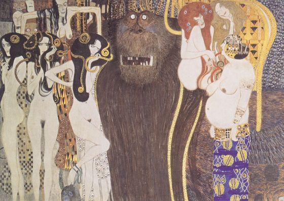 Klimt, Gustav: Beethoven Frieze. Fine Art Print/Poster. Sizes: A4/A3/A2/A1 (002226)